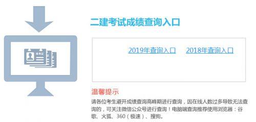 2020年云南二级建造师成绩查询入口